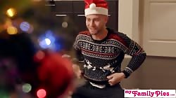 Stepbro's Christmas Threesome And Sister Creampie - My Family Pies S5:E6