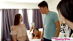 StepSister And Bestie Give Cock A Helping Hand - My Family Pies S4:E6